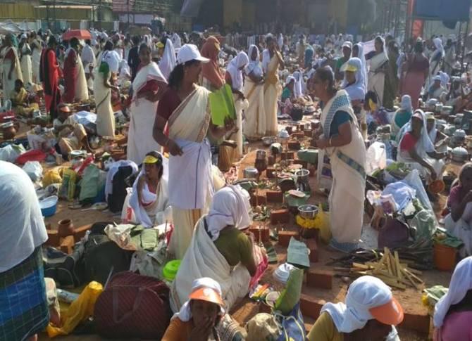 Aatrukal Bagavathi amman Temple, Pongal Festival