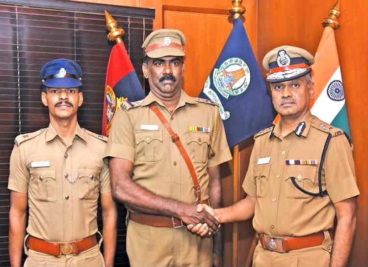 Chennai police help pregnant cow, சென்னை காவல்துறை