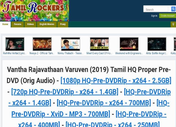 Tamilrockers Leaked Vantha Rajavathaan Varuven Full Movie, தமிழ்ராக்கர்ஸ்