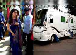 nayanthara caravan checked by police, நயன்தாரா