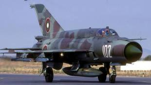 IAF mig21 fighter aircraft crashes