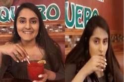 Indian girl drinks viral video