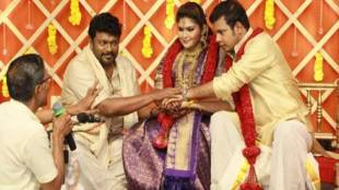 actor Parthiepan elder daughter, mr radha great grandson marriage - எம்.ஆர்.ராதா கொள்ளுப் பேரனை மணந்த பார்த்திபன் மகள்!