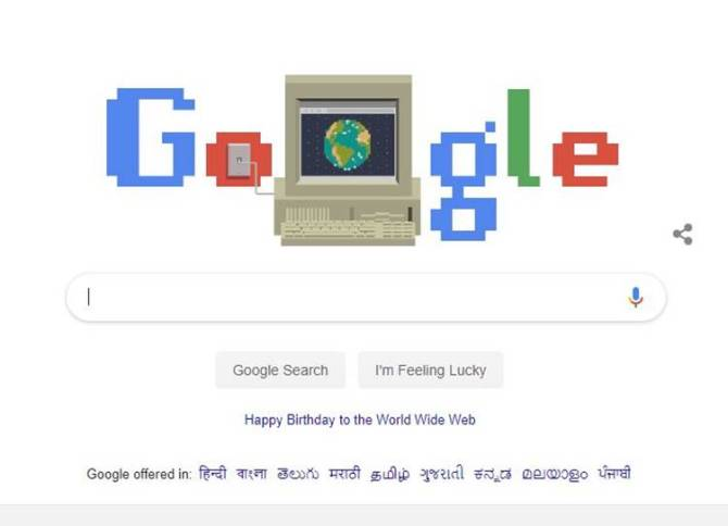 Today Google Doodle Celebrates World Wide Web's 30th anniversary