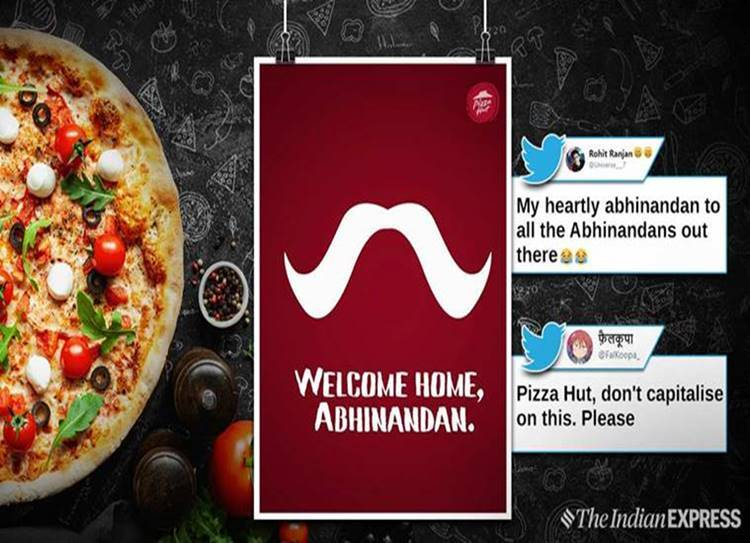 Pizza Hut offering free pizza to anyone named Abhinandan