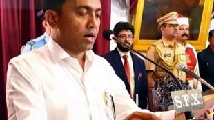 Goa floor test, Pramod Sawant takes oath of Goa C M