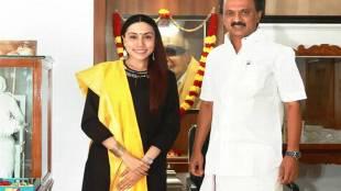 Divya Sathyaraj Meets MK.Stalin