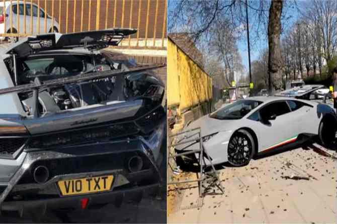 Lamborghini car accident