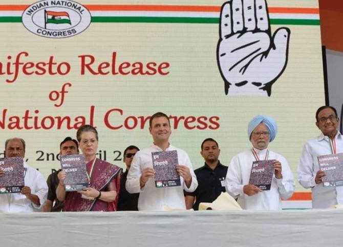 Congress 2019 Election Manifesto