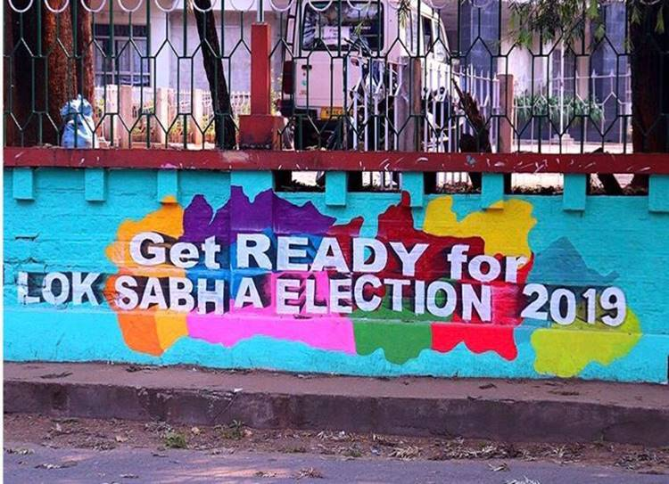 General Election 2019 Colourful Graffiti Awareness