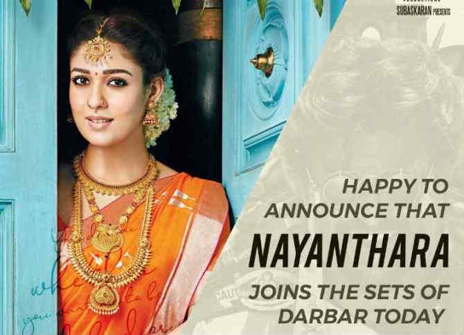 Nayanthara joins Darbar, Nayanthara joins Darbar shooting