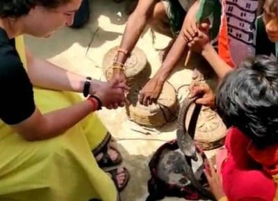 Priyanka Playing with snakes