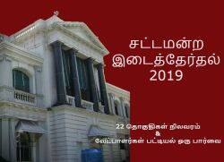 Tamil Nadu 22 Constituency by-election, Tamil Nadu By Election Constituency List, Full List of TN Assembly By Election
