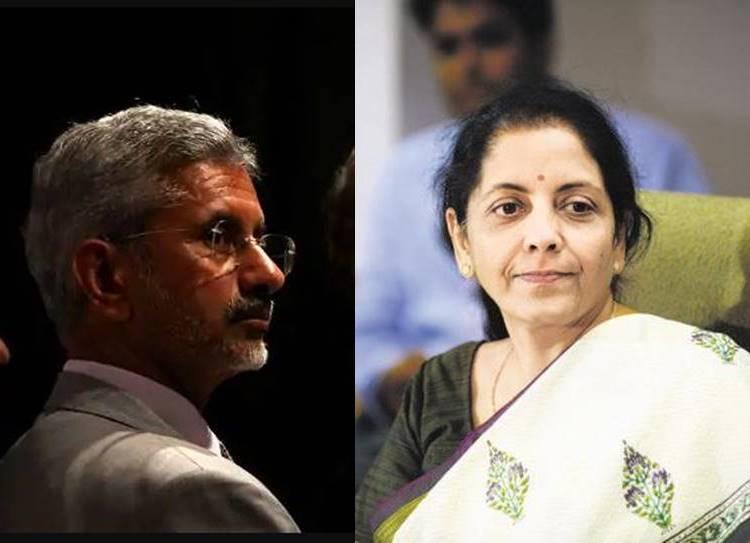 Foreign Affairs Minister S Jaishankar Finance Minister Nirmala Sitharaman
