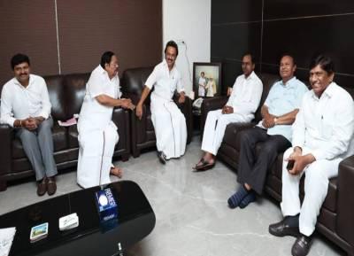 Telengana CM chandra shekar rao meets mk Stalin