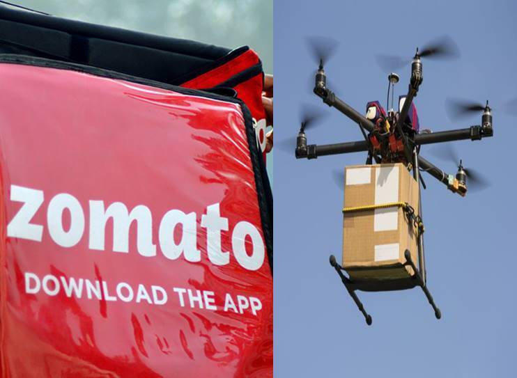 Food Tech Platform Zomato has Idea of delivering food by drones