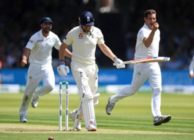 england all out for 85 against ireland only test match lords london eng vs ire - 37 வயது பவுலரிடம் சரண்டர்... 85 ரன்களுக்கு ஆல் அவுட்! - அயர்லாந்துக்கு எதிரான டெஸ்ட் போட்டியில் காமெடி பீஸான 'உலக சாம்பியன்' இங்கிலாந்து