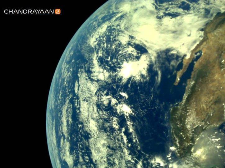 Chandrayaan 2 Photographed earth with L14 Camera
