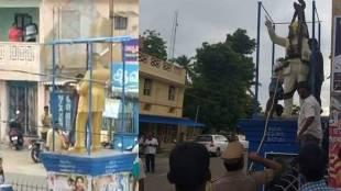 Ambedkar statue vandalism, nagapattinam, அம்பேத்கர் சிலை உடைப்பு, நாகப்பட்டினம், வேதாரண்யம், vedaranyam, mob violence, ambedkar statue,
