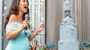 amy jackson baby shower images