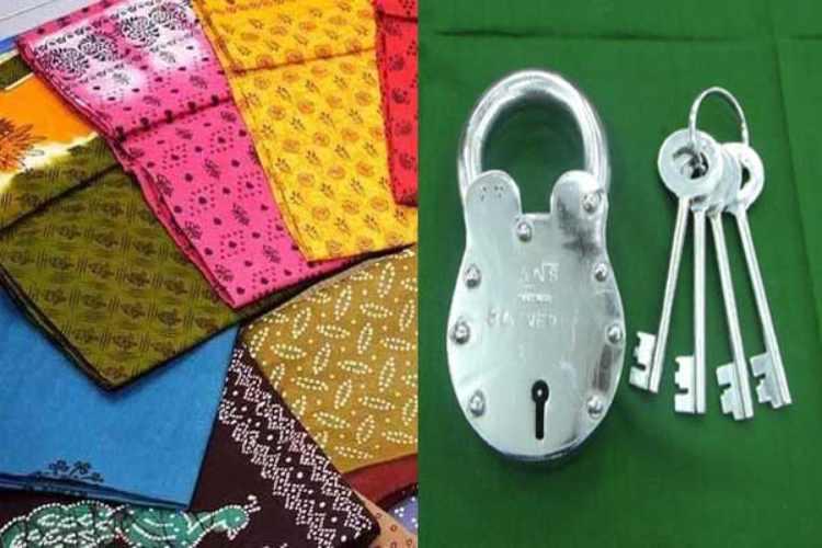 Image result for dindigul lock and kandangi saree