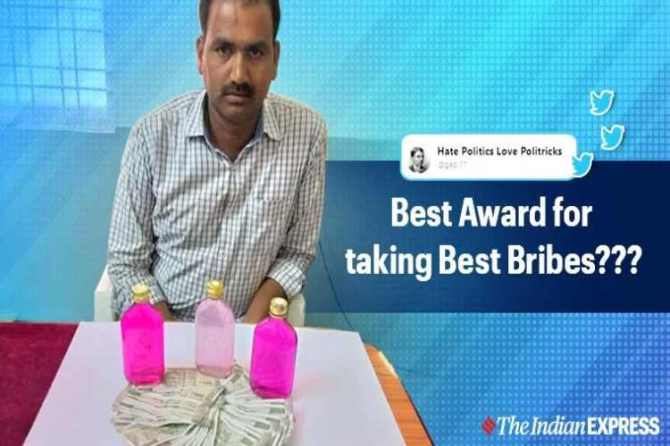 telangana government, best constable award, arrest for bribery