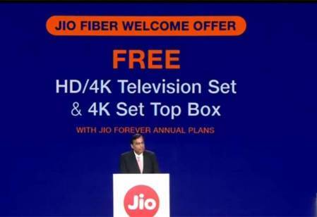 Reliance industries limited announced JioGigafiber services