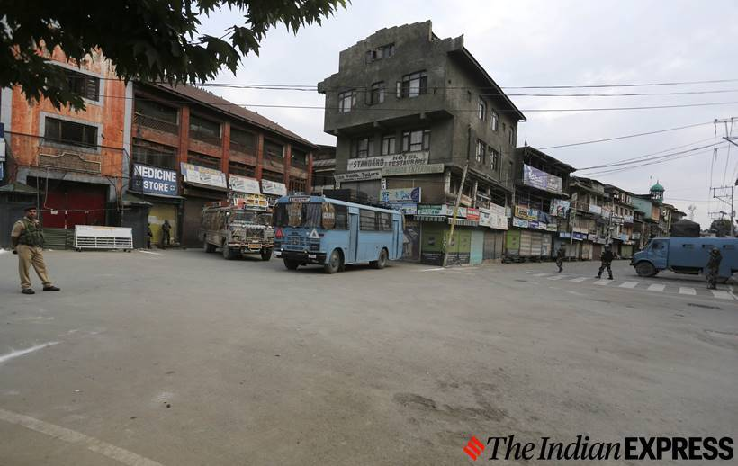 Kashmir lockdown Exclusive Express photos from Kashmir Valley