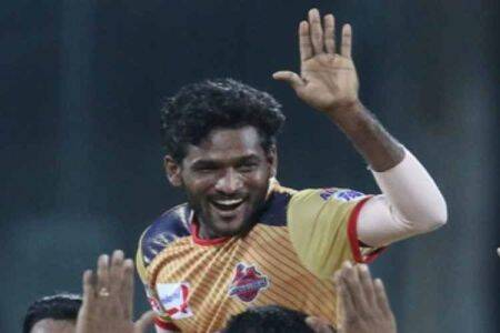 TNPL Series, TNPL Cricket series, Chepauk super gillies, Dindigul Dragons, Salem player Periasamy, பெரியசாமி, சேப்பாக்கம் சூப்பர் கில்லீஸ் வீரர் பெரியசாமி, Periyasamy like Malinga, Fast Bowler Periyasamy, Chepauk super gillies player Periyasamy