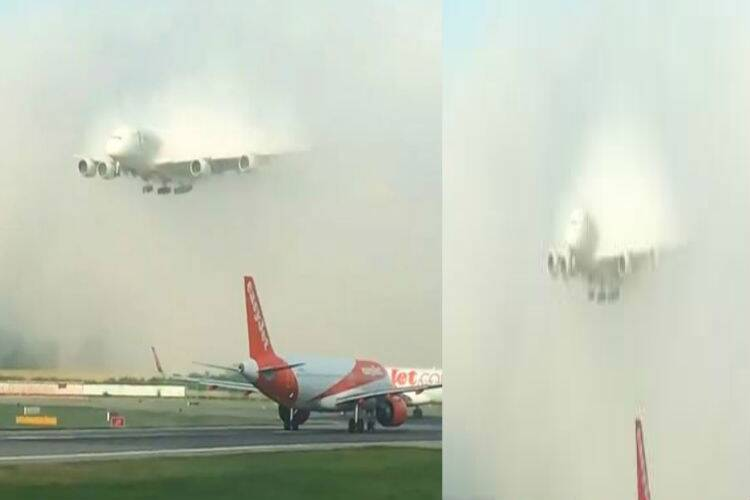 Emirates flight landing video