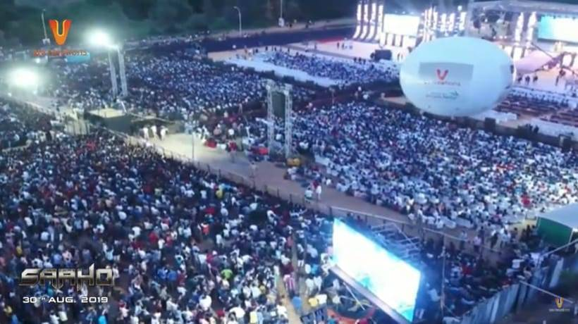 saaho pre release event prabhas shraddha kapoor