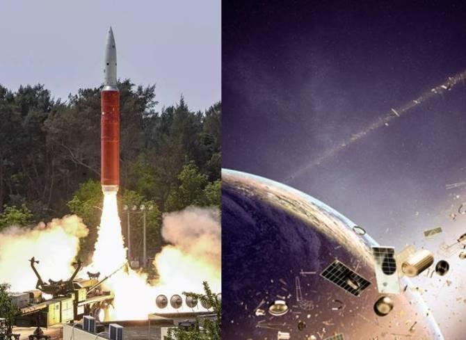Indian anti-satellite test mission shakti debris
