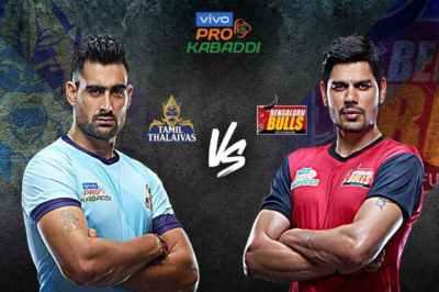 Pro Kabaddi 2019, Tamil Thalaivas vs Bengaluru Bulls, Bengaluru Beat Tamil, தமிழ் தலைவாஸ், பெங்களூரு புல்ஸ், புரோ கபடி தொடர் 7வது சிசன், Pro Kabaddi Season 7, chennai, Jawaharlal Nehru Indoor Stadium,