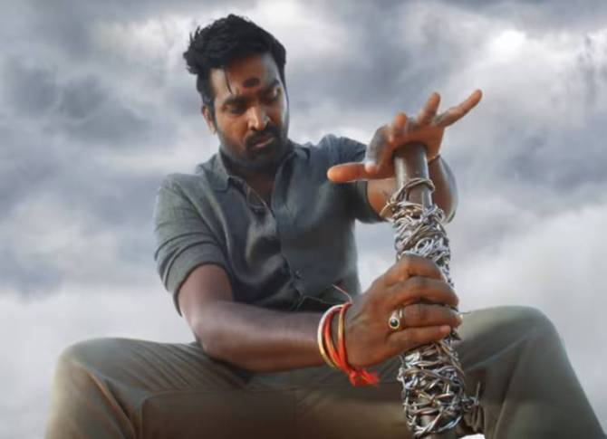 Sanga Thamizhan teaser Vijay sethupathy action movie - இதுவரை காட்டாத மாஸ்... விஜய் சேதுபதியின் ஆக்ஷன் அவதார்! 'சங்கத் தமிழன்' டீசர் ரிலீஸ்!