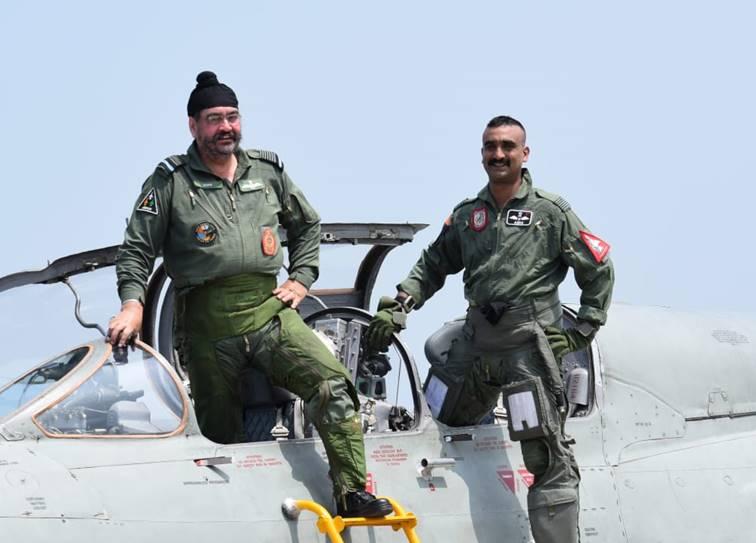 IAF chief Air Chief Marshal B S Dhanoa takes last sortie with Abhinandan