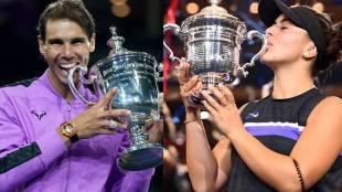 Grand Slam US Open singles finals Rafael Nadal, Bianca Andreescu