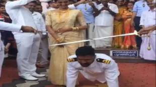 Groom Push ups, Navy officer wedding function, Wedding, கடற்படை அதிகாரி மாப்பிள்ளை, கேரளாவில் தண்டால் எடுத்த மாப்பிள்ளை, Kerala, Navy officer, push-ups, Viral Videos