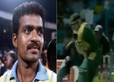 Sunil Joshi registered a record-breaking five-wicket haul against South Africa video ind vs sa - 10 ஓவர்... 6 மெய்டன்... 6 ரன்... 5 விக்கெட் - தென்னாப்பிரிக்காவை கதிகலங்க வைத்த விண்டேஜ் இந்திய ஸ்பின்னர் (வீடியோ)