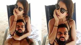 virat anushka holiday photo, virat anushka beach selfie, virat kohli anushka latest photo, virushka memes, virat anushka beach photo memes, indian express, entertainment news,