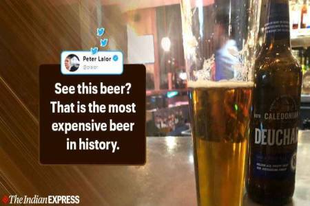 uk pub charges aussie journalist peter lalor $100k for one beer, peter lalor, the australian, deuchers ipa, உலகிலேயே அதிக விலை பீர், ஆஸ்திரேலியா பத்திரிகையாளர் பீட்டர் லாலோர், most expensive beer, trending, Tamil indian express, Tamil indian express news