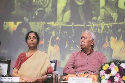 women empowerment, Mohan Bhagwat on women empowerment, mohan bhagwat on lynching, rss on mob lynching, mohan bhagwat on article 370, kashmir issue, Nirmala Sitharaman
