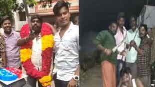 Man Cuts Birthday Cake By machete, Kattankulathur Tamil Vanan, Anti Social celebrates birthday in Coimbatore, பட்டாகத்தியால் கேக் வெட்டிய நபர், காட்டான்குளத்தூரில் பிறந்தநாள் கொண்டாடிய நபர், birthday video goes viral, A Man celebrate birthday in chennai, kattankulathur