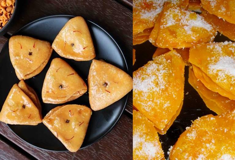 Festival sweets Badam Poori home made recipe in Tamil