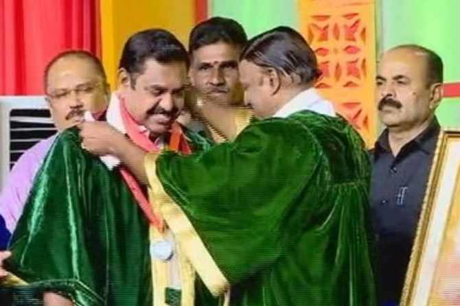doctor edappadi k palaniswami, dr mgr deemed university, tn cm to receive honorary doctorate