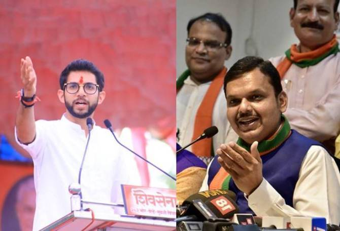 Maharashtra CM Post Shiv Sena vs BJP, Uddhav Thackeray, Adithya Thackeray, Devendra fadnavis