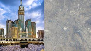 Satellite picture of Mecca shared by Emirati astronaut