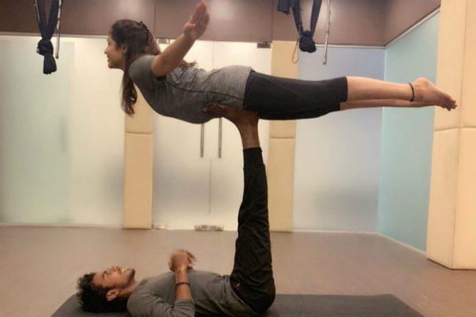 Priya Atlee yoga pose