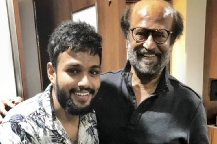 Rajinikanth with Fan