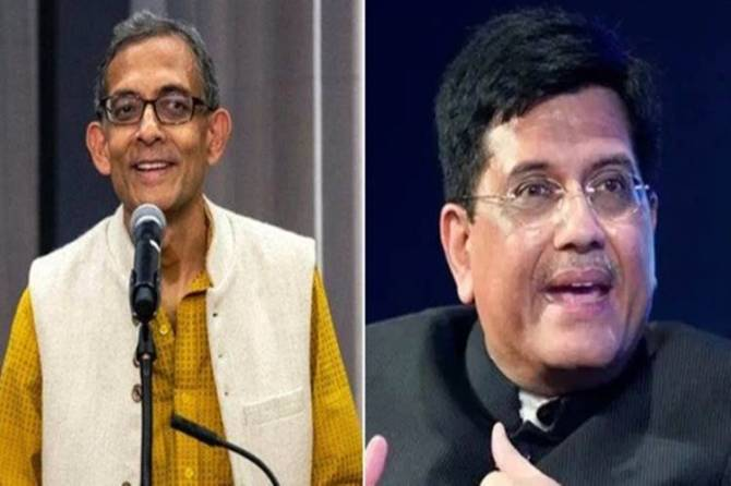 'Non-partisan in economic thinking': Nobel winner Abhijit Banerjee on Piyush Goyal's 'Left-leaning' remark - 'பொருளாதாரத்தில் நான் பாகுபாடற்றவன்' - பியூஷ் கோயல் கருத்துக்கு நோபல் வின்னர் அபிஜித் பானர்ஜி பதிலடி