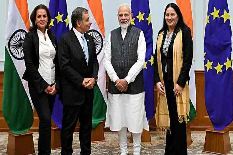 brexit, european union, anti immigrants, prime minister narendra modi, modi eu mp meet, eu meet on jammu and kashmir, பிரெக்ஸிட், ஐரோப்பிய ஒன்றியம், ஐரோப்பிய நாடாளுமன்ற உறுப்பினர்கள் குழு, kashmir, meps, uk, france, germany, italy, poland, czech republic, slovakia, Tamil indian express
